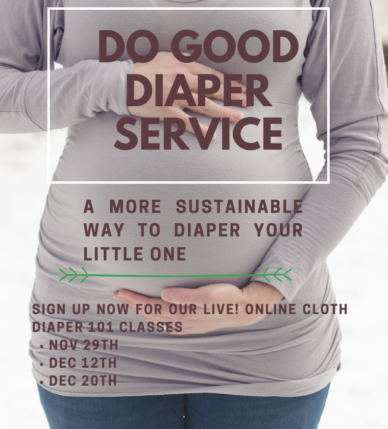 November and December informational slide Do Good Diapers