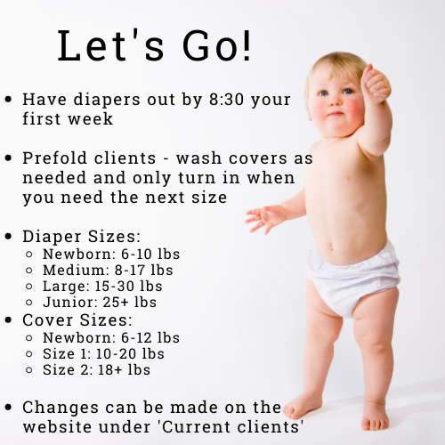 Pre-fold diaper clients informational
